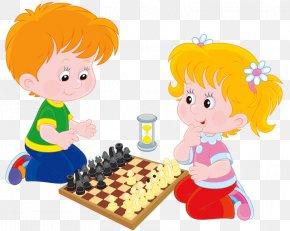 Children Play Chess - Chess Play Clip Art PNG