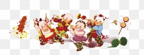 Chinese New Year Doll - Firecracker Chinese New Year Fireworks PNG