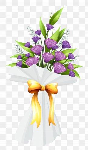Purple Flowers Bouquet Clipart Image - Floral Design Cut Flowers Flower Bouquet Purple PNG