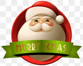 Santa Merry Xmas Decoration Clip-Art Image - Santa Claus Christmas Decoration Clip Art PNG
