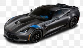 Black Chevrolet Corvette Grand Sport Car - 2018 Chevrolet Corvette Coupe 2018 Chevrolet Corvette Grand Sport Car Corvette Stingray PNG