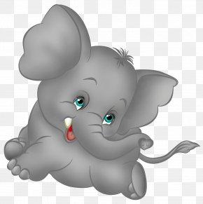 Grey Elephant Cartoon Free Clipart - Elephant Cartoon Clip Art PNG