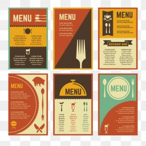 Vintage Menu Design Vector Material - Menu Restaurant Graphic Design PNG