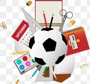 Vector Football - School Supplies Clip Art PNG