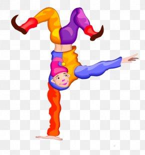 Handstand Clown - Clown Circus Jester Clip Art PNG