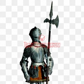 Halberd - Middle Ages Plate Armour Body Armor Halberd Knight PNG