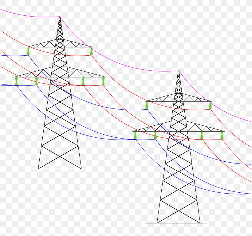Overhead Power Line Drawing Pylon Electricity Diagram  Png