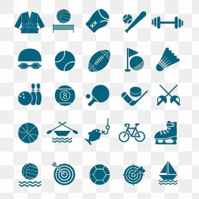 A Variety Of Sports Equipment Material - Sports Equipment Icon PNG