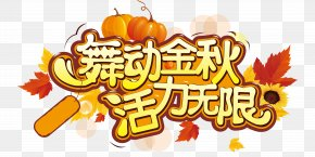 Vector Autumn Activities - Typeface Typography Autumn Police Vectorielle PNG