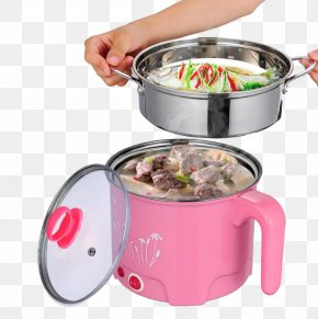 Pink Rice Cooker Is Cooking Meals - Rice Cooker Hot Pot Steaming Congee Baozi PNG