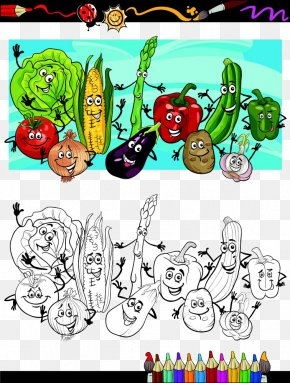 Vegetables Summary - Cartoon Vegetable Illustration PNG