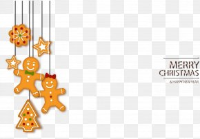 Cookies Ornaments Card - Gingerbread House Ginger Snap Christmas Cookie PNG
