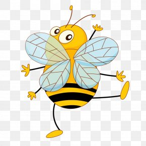 Cute Bee - Vector Graphics Illustration Stock Photography Clip Art PNG