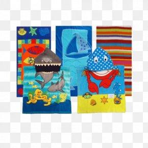 Beach Towel - Textile Place Mats Cobalt Blue Material Rectangle PNG