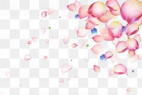 Sahua Beautiful Petal Drops - Pink Petal Color PNG