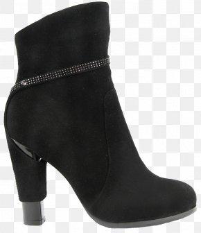 Black Boots - Slipper Boot Shoe High-heeled Footwear PNG