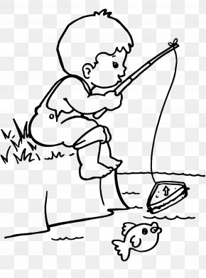 Occupation - Colouring Pages Coloring Book Fisherman Drawing Image PNG