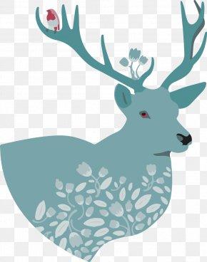 Elk,deer - T-shirt Deer Art Illustration PNG
