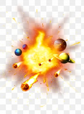 Golden Atmosphere Explosion Planet Decorative Patterns - Explosion Download Icon PNG