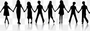 Friends Transparent Background - Silhouette Holding Hands Child Clip Art PNG