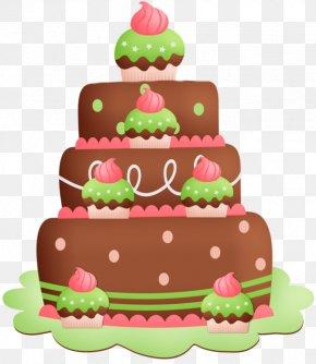 Cartoon Triple Chocolate Cake - Birthday Cake Chocolate Cake Torte Cupcake Black Forest Gateau PNG