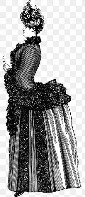 Dress - Dress Vintage Clothing Victorian Fashion PNG