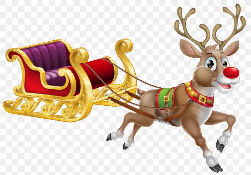 Rudolph Santa Claus Reindeer Christmas Png 4000x2789px