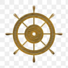 Steering Wheel - Ship's Wheel Steering Wheel Boat PNG
