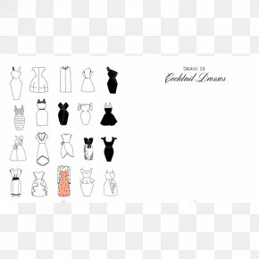 Dress - 20 Ways To Draw A Dress And 44 Other Fabulous Fashions And Accessories: A Sketchbook For Artists, Designers, And Doodlers Drawing Clothing T-shirt PNG