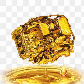 Gold Machine Material - Car Motor Oil Lubricant Castrol PNG
