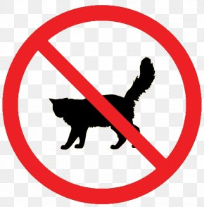 No Cats Allowed Sign - Cat No Symbol Clip Art PNG