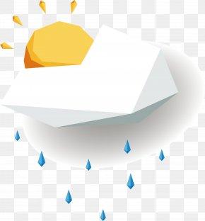 Cartoon Sun Rain - Rain PNG