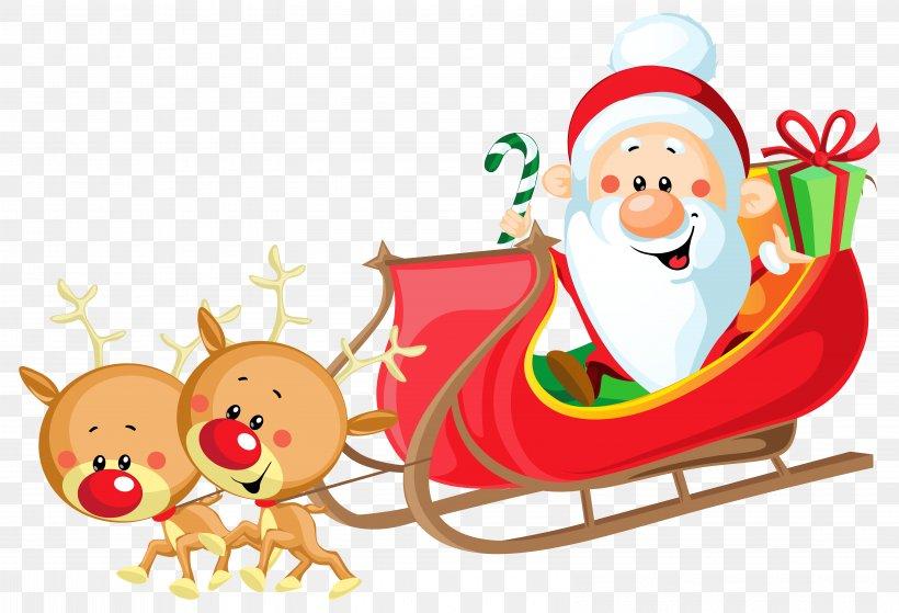 Santa Claus's Reindeer Sled, PNG, 6412x4378px, Santa Claus, Art, Blog, Christmas, Christmas Decoration Download Free