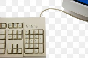 Retro Keyboard - Computer Keyboard Computer Mouse Numeric Keypad Cherry PNG