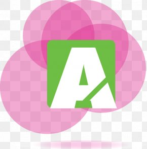 Fantasy Pink Circle Pattern Letter A - Download Clip Art PNG