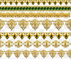 Golden Classic Lace - Gold Lace PNG