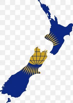 True - New Zealand Vector Map PNG