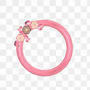 Pink Round Frame - Pink Picture Frame Download PNG