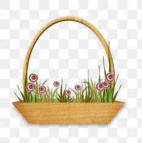 Basket - Basket Floral Design PNG