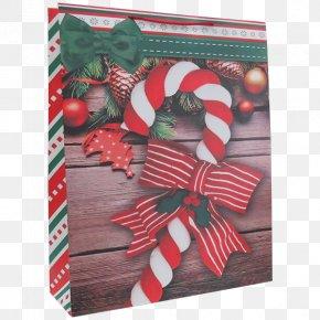 Ribbon - Christmas Ornament Candy Cane Paper Ribbon Bag PNG