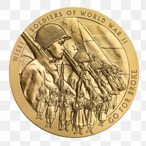 United States - United States Coin 442nd Infantry Regiment Britannia Congressional Gold Medal PNG