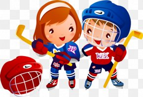 Children Playing Hockey - Ice Hockey Hockey Puck Clip Art PNG