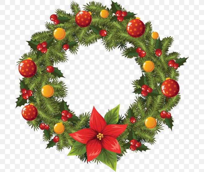 Wreath Christmas Garland Clip Art Png 700x692px Wreath
