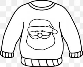 Black And White Clothes Clip Art - Christmas Jumper Hoodie Clip Art Sweater Clothing PNG