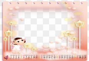 Calendar Template - Paper Text Picture Frame PNG