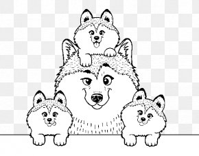 Puppy - Siberian Husky Puppy Colouring Pages Alaskan Husky Alaskan Malamute PNG