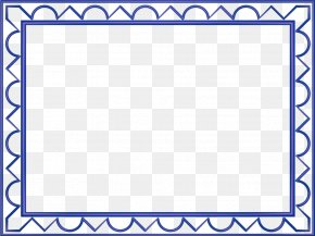 Design Borders - Rectangle Blue Yellow Color Clip Art PNG