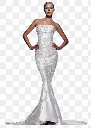 Europe And Temperament Models - Wedding Dress Bride Bra PNG