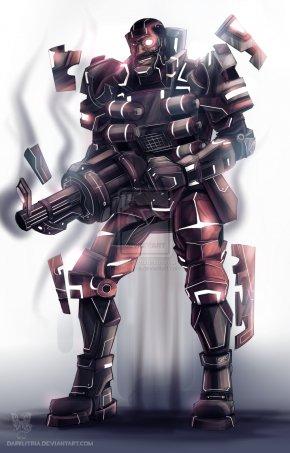 Cyborg - Team Fortress 2 Cyborg Robot Mercenary DeviantArt PNG