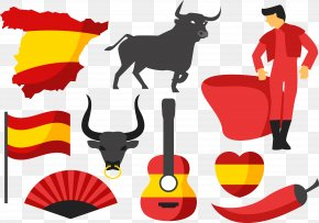 Tools For Bullfighting - Spain Cattle Bullfighting Clip Art PNG